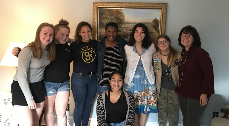 My Ideal College shared insights about getting into college to help these girl scouts earn their college knowledge badge.